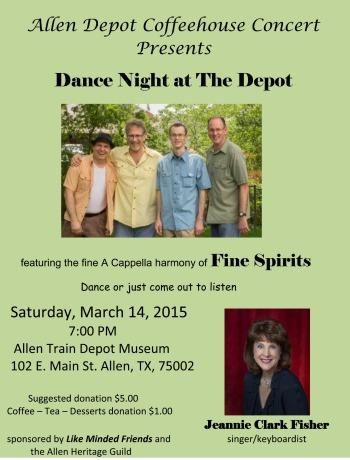 Dance Night at the Depot, Saturday March 14, 2015
