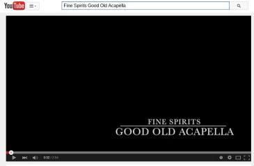 Click on the photo to watch Fine Spirits perform Good Old Acapella.